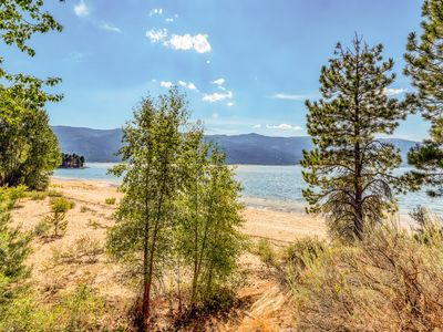 Secluded lake view home w/ private beach access & game room!