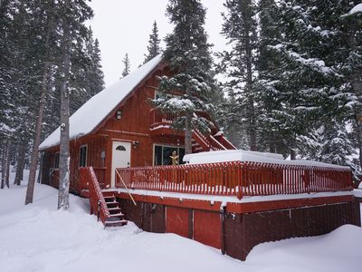 Photo for Gorgeous Mountain Cabin with Hot Tub and Glacier hiking year round
