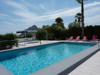Photo for Beautiful air-conditioned villa, heated pool and private parking, garden. free WIFI