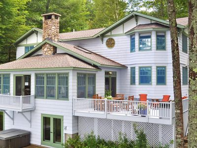 Photo for Elegant, waterfront home is arguably the finest rental on Kezar lake
