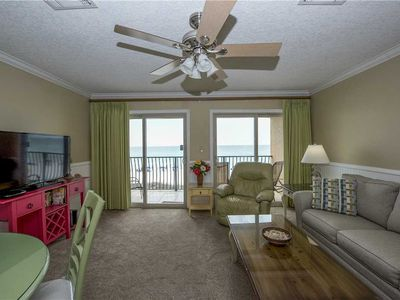 Photo for 20- One Bedroom condo located in a quaint 3 story building right on the BEACH! Coral Reef Club