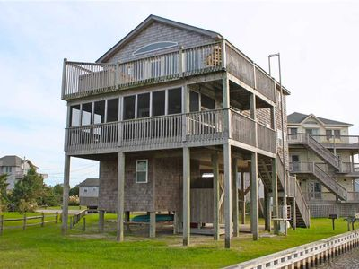 Photo for Canalfront in Avon w/ Hot Tub, Cargo Lift, Boat Dock, Easy Windsports Access