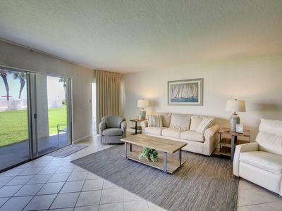 Photo for Lovely Condo w/Private Patio, Pool, Sauna, Private Beach Access, & More!
