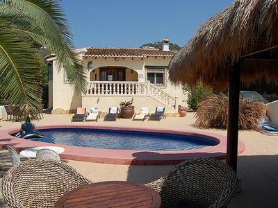 Photo for LOVELY VILLA WITH POOL NEAR THE GOLF AND 5 MINUT. BEACH, MARKET AND MORAIRA