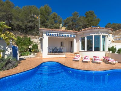 Photo for CARLOS, villa with panoramic views in the hills of Calp