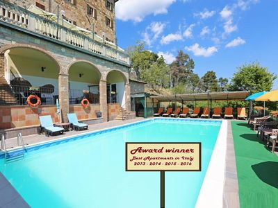 Photo for (NEW) Apartment (D) with swimming pool, jacuzzi and tennis court in Tuscany
