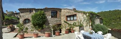Photo for Authentic Farmhouse on  Chianti Estate between  Florence & Siena