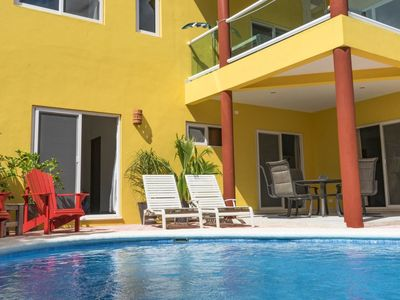 Photo for Beautiful, Spacious 1 BR with POOL; 2 Blocks from Beach