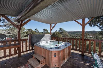 Hot Tub - There may not be a better view in Ruidoso, especially from your own private hot tub!