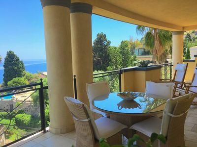 Photo for PANORAMIC SEA VIEW RESIDENCE with Pool + Terrace Taormina