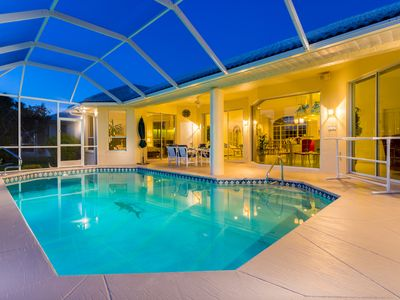 Photo for Villa Sunshine, Gulf Access Pool home with Western Exposure