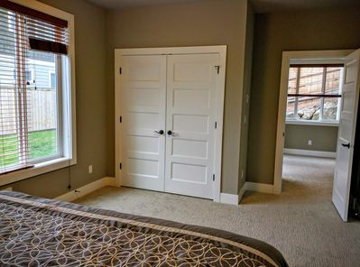 Closet and view to living space