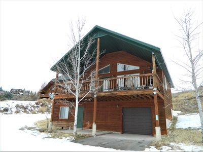 Photo for Painted Sky Lodge-Cozy 3 Bedroom Cabin with beautiful views of Bear Lake