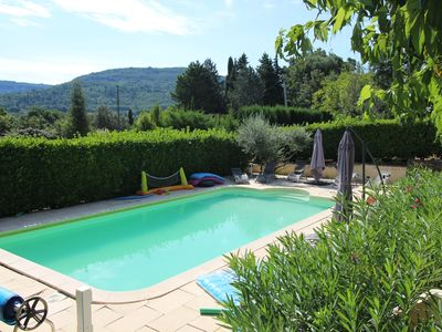 Photo for House with superb views above Apt in the heart of the Luberon