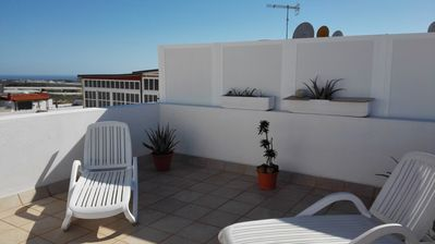 Photo for Apartment very well equipped, 3 bedrooms, 2 bathrooms, solarium, pool, TV-WiFi
