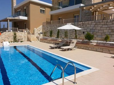 Photo for This 4-bedroom villa for up to 10 guests is located in Lygaria and has a private swimming pool, air-