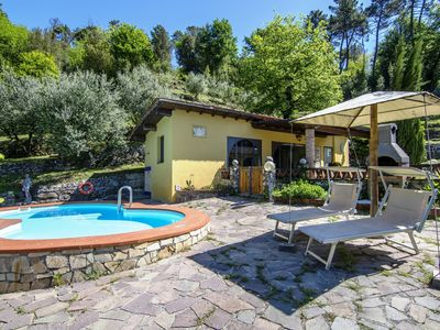 Photo for Cottage Tuscany in the hills near Lucca  with private pool at exclusive use!