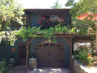 Photo for Private hilltop property overlooking organic vineyards