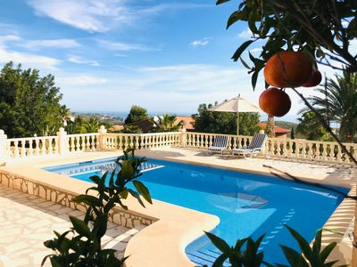 Photo for Villa 6 pers. with pool and spectacular sea views, close to shops