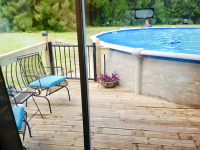Photo for The Purple Pool House with private deck & pool, near the beaches & golf course