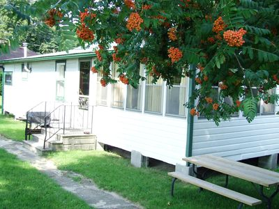 Photo for ADULTS ONLY Comfortable Rustic Cabin & BOAT DOCK overlooks World Biosphere Park