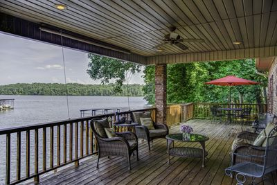 The back deck is a guest FAVORITE.