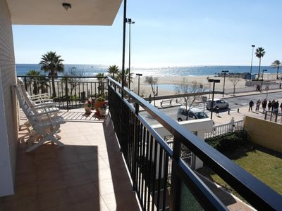 Photo for 1st line, Fabulous Beach Views, 2 Bed, 2 Bath Apt, Fantastic Pool And Gardens