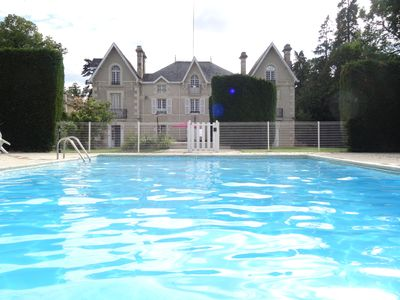 Photo for French Manoir in 7 acres with secluded heated pool