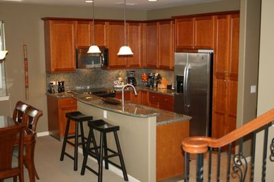 Fully equipped gourmet kitchen. Granite counters & all you need for great meals.