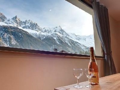 Photo for Luxurious apartment facing Mont Blanc in Chamonix