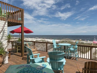 Photo for Gulf-front home w/ outdoor living space & private beach access, dogs OK!