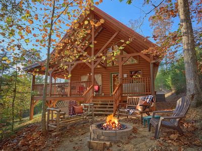 Photo for Family friendly cabin with fire pit and pool table private near Pigeon Forge