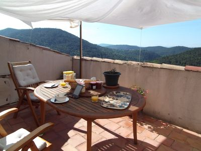 Photo for Town House On Ramparts Of Village With Stunning Views To The South
