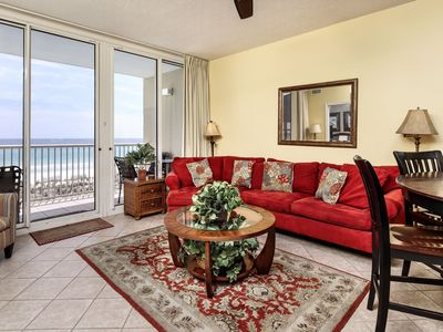Photo for Gulf-front 3 bedroom condo, beach service included! DVD Rentals, Wifi