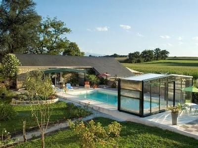 Photo for Between Jurançon-Pyrenees, béarnaise farmhouse-heated and covered pool
