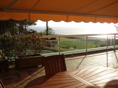 Photo for Arcachon Le Moulleau Luxury apartment in 1st line private access to the beach
