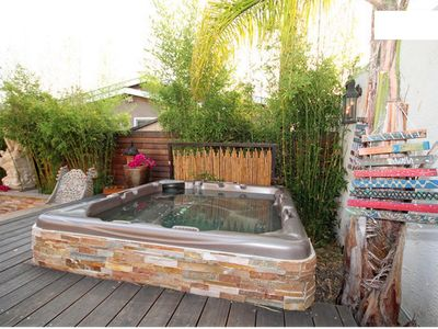 Photo for Private oasis w/ jacuzzi 10mn away from the beach and downtown - up to 6 guests