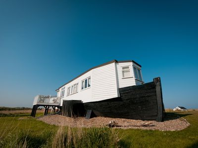 Photo for A converted boat which overlooks Snettisham RSPB reserve