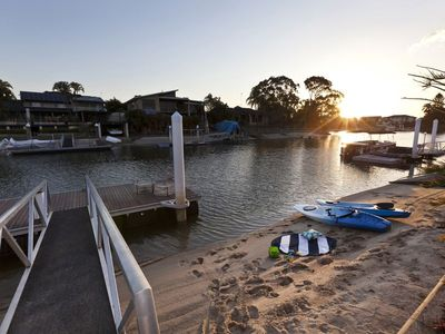 Take a kayak for a paddle and explore the GC canal and river system