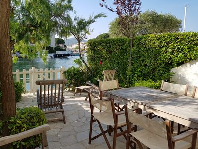 Photo for Enlarged house with WIFI and a 10m mooring close to the beach