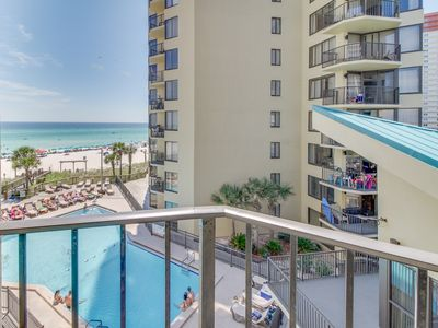 Photo for Beachfront condo w/ shared pools and tennis court, private beach, & more!