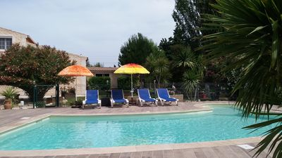 Photo for beautiful countryside cottage with pool on the outskirts of Nimes