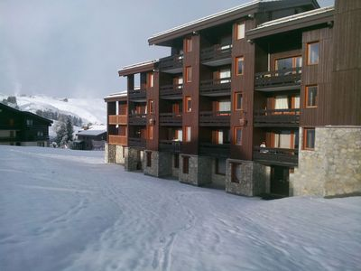 Photo for BELLE PLAGNE, 5 people, ski-in ski-out, covered parking included