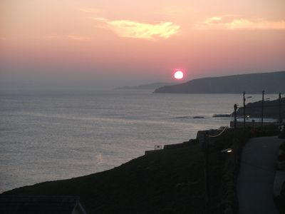 Photo for Clifftop cottage in Porthleven with fabulous views and a private terraced garden