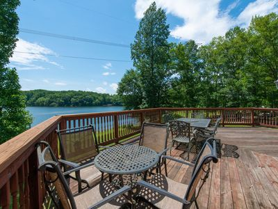 Photo for NEW LISTING! Water front, family & pet friendly home w/ dock, & game room