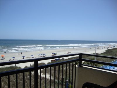 Photo for Oceanfront Pet Friendly Condo Right on the Beach! Great Location and Pool Area Right on the Beach