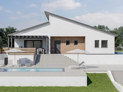 Photo for Newly built and elegant villa with private pool, WiFi, air conditioning, BBQ and table tennis for 8 people