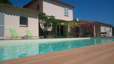 Photo for Superb villa pl / south. Exceptional view of the Moors, near the waterfalls of the Aille