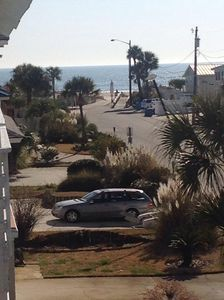 View of the beach from your veranda. It's private or you may share. Up to you!