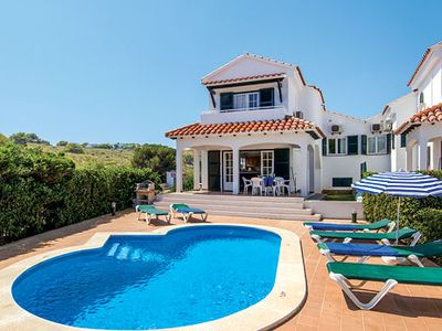 Photo for Comfortable Villa w/pool, sea views & BBQ, close to resort centre